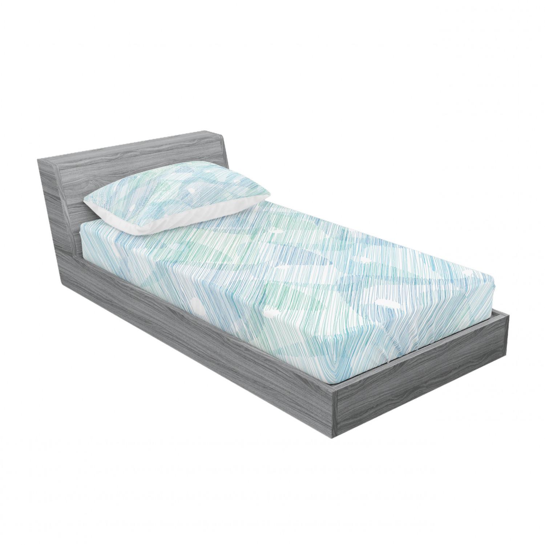 thumbnail 129 - Ambesonne Modern Design Fitted Sheet Pillow Sham Set Bedding Decor in 4 Sizes