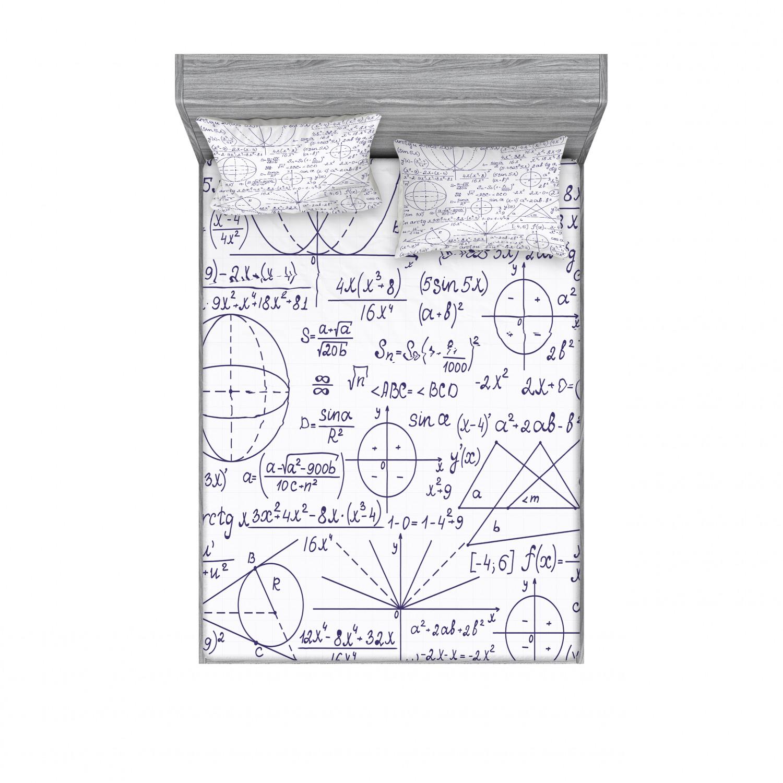 thumbnail 198 - Ambesonne Modern Design Fitted Sheet Pillow Sham Set Bedding Decor in 4 Sizes