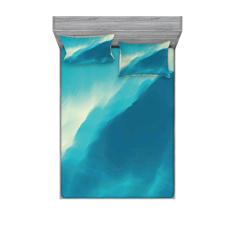 thumbnail 14 - Ambesonne Modern Design Fitted Sheet Pillow Sham Set Bedding Decor in 4 Sizes