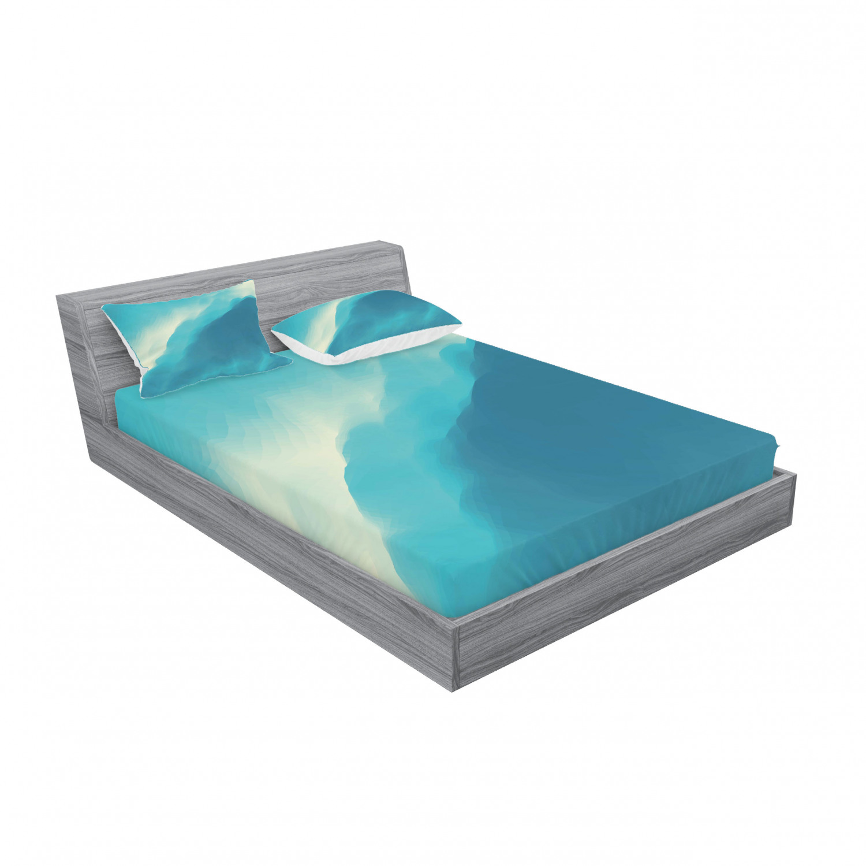 thumbnail 15 - Ambesonne Modern Design Fitted Sheet Pillow Sham Set Bedding Decor in 4 Sizes