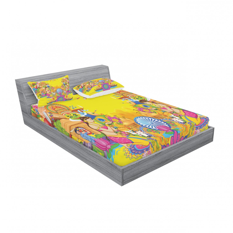 thumbnail 203 - Ambesonne Modern Design Fitted Sheet Pillow Sham Set Bedding Decor in 4 Sizes