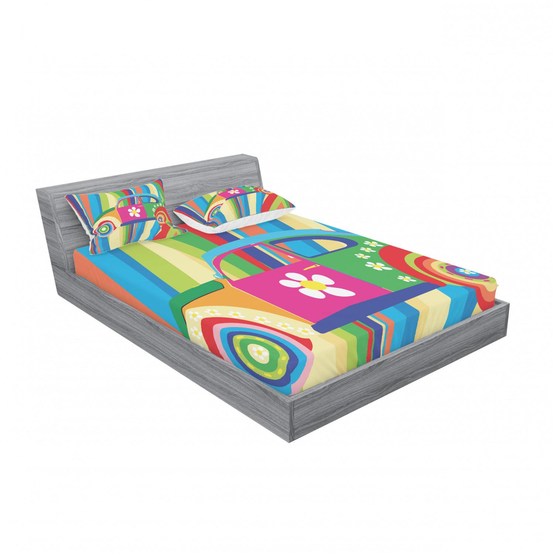 thumbnail 119 - Ambesonne Modern Design Fitted Sheet Pillow Sham Set Bedding Decor in 4 Sizes