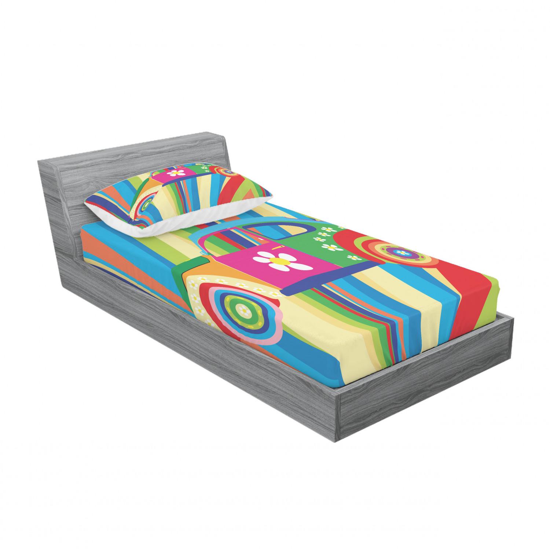 thumbnail 117 - Ambesonne Modern Design Fitted Sheet Pillow Sham Set Bedding Decor in 4 Sizes