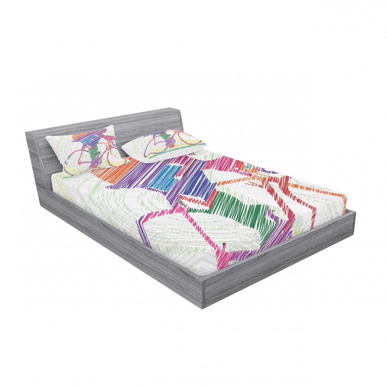 thumbnail 43 - Ambesonne Modern Design Fitted Sheet Pillow Sham Set Bedding Decor in 4 Sizes