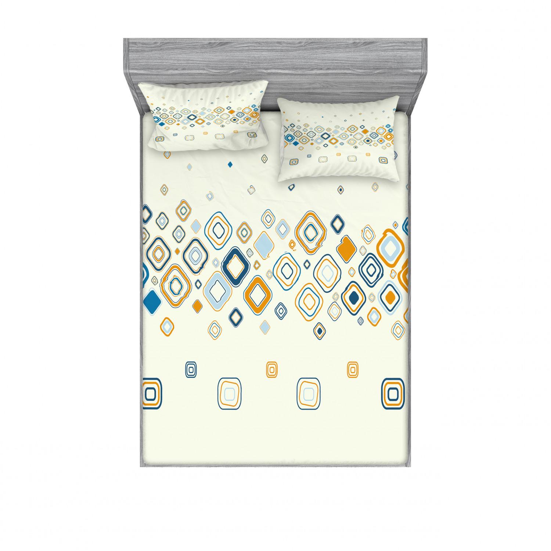 thumbnail 210 - Ambesonne Modern Design Fitted Sheet Pillow Sham Set Bedding Decor in 4 Sizes