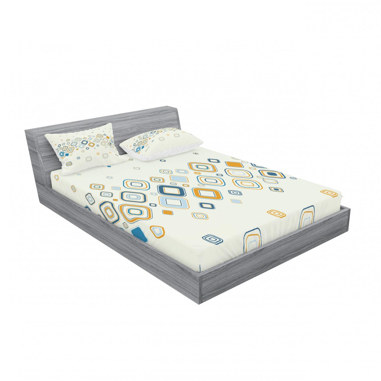 thumbnail 211 - Ambesonne Modern Design Fitted Sheet Pillow Sham Set Bedding Decor in 4 Sizes