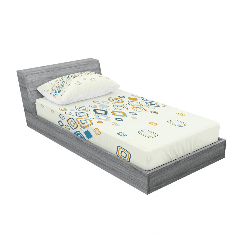 thumbnail 209 - Ambesonne Modern Design Fitted Sheet Pillow Sham Set Bedding Decor in 4 Sizes