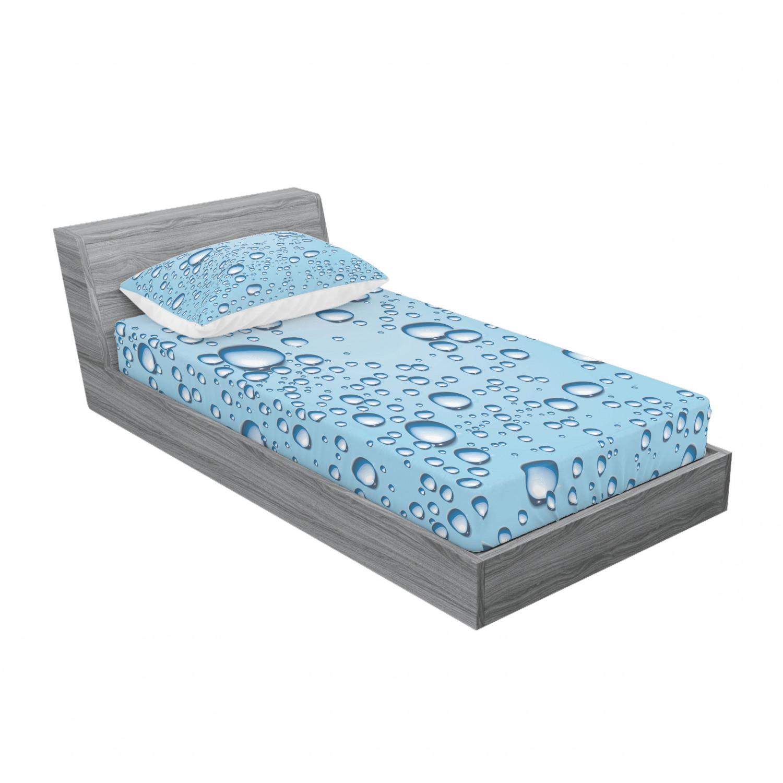 thumbnail 93 - Ambesonne Modern Design Fitted Sheet Pillow Sham Set Bedding Decor in 4 Sizes