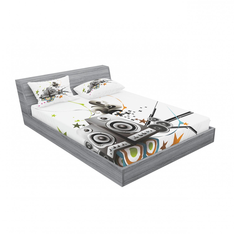 thumbnail 139 - Ambesonne Modern Design Fitted Sheet Pillow Sham Set Bedding Decor in 4 Sizes