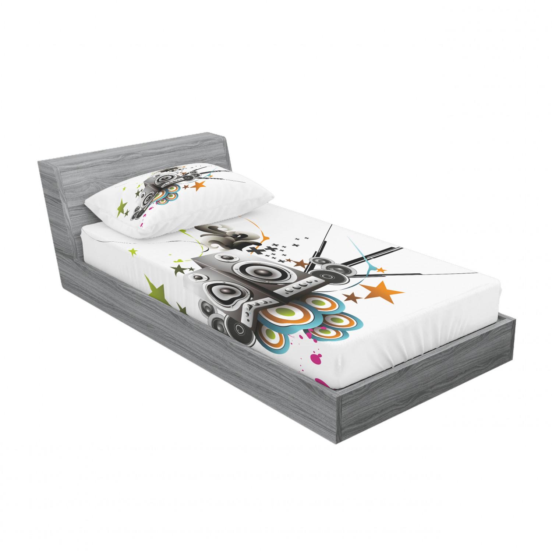 thumbnail 137 - Ambesonne Modern Design Fitted Sheet Pillow Sham Set Bedding Decor in 4 Sizes