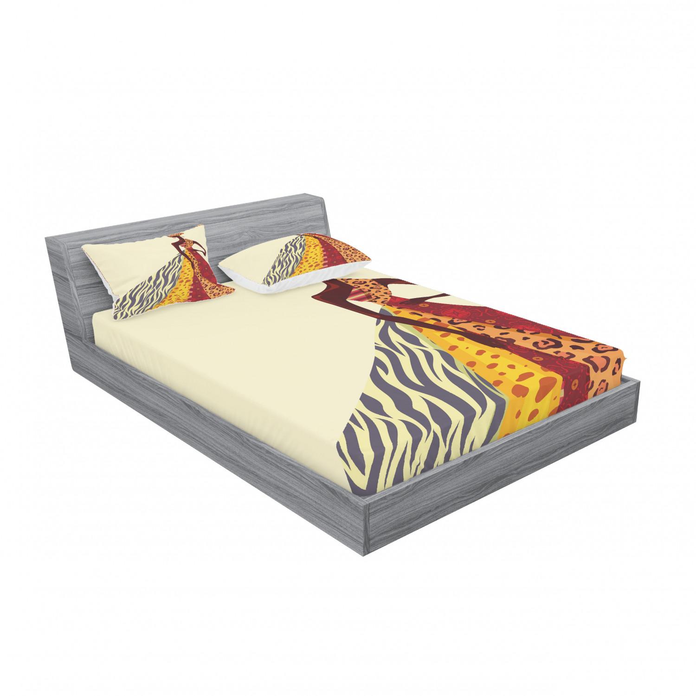 thumbnail 155 - Ambesonne Modern Design Fitted Sheet Pillow Sham Set Bedding Decor in 4 Sizes