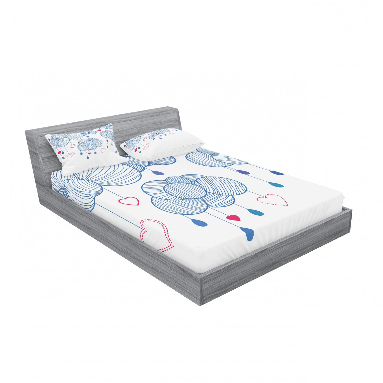 thumbnail 107 - Ambesonne Modern Design Fitted Sheet Pillow Sham Set Bedding Decor in 4 Sizes