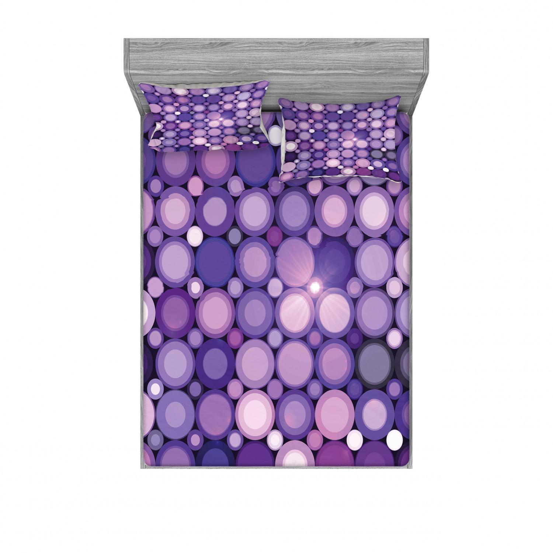 thumbnail 86 - Ambesonne Modern Design Fitted Sheet Pillow Sham Set Bedding Decor in 4 Sizes