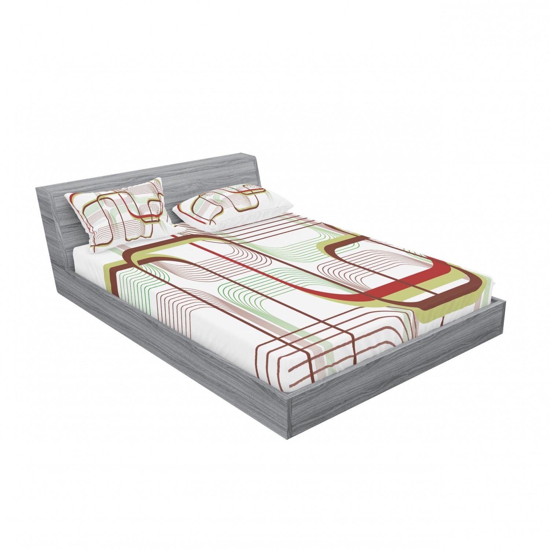 thumbnail 223 - Ambesonne Modern Design Fitted Sheet Pillow Sham Set Bedding Decor in 4 Sizes