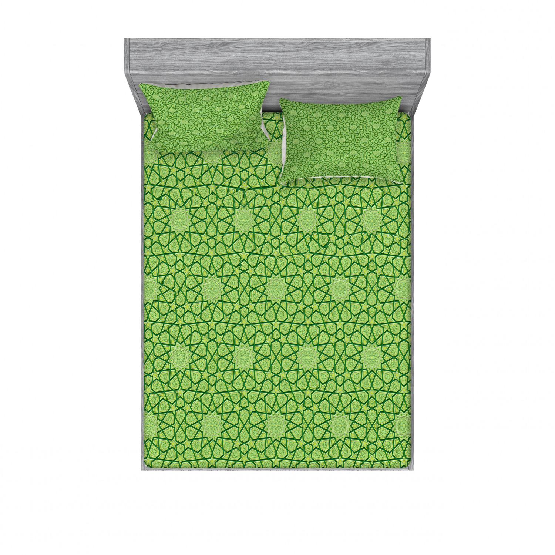 thumbnail 194 - Ambesonne Modern Design Fitted Sheet Pillow Sham Set Bedding Decor in 4 Sizes