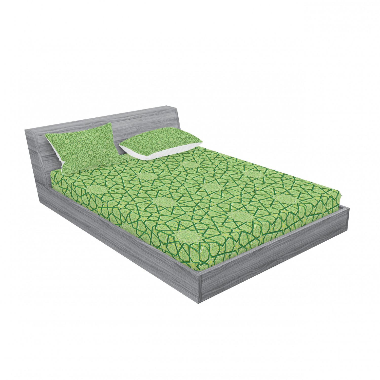 thumbnail 195 - Ambesonne Modern Design Fitted Sheet Pillow Sham Set Bedding Decor in 4 Sizes