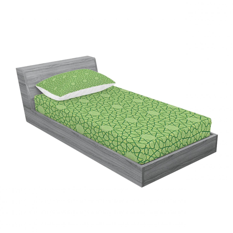 thumbnail 193 - Ambesonne Modern Design Fitted Sheet Pillow Sham Set Bedding Decor in 4 Sizes