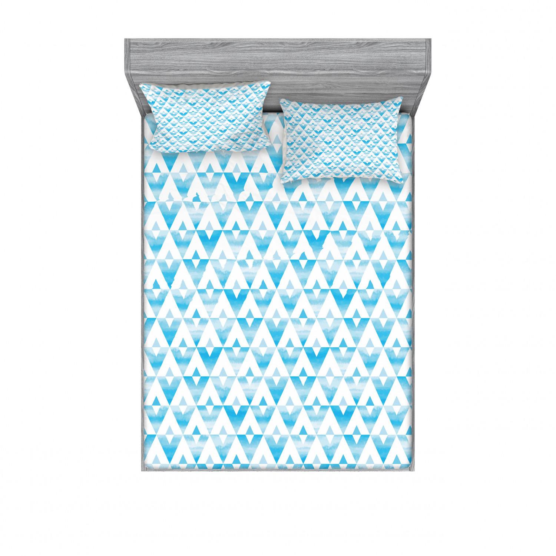 thumbnail 78 - Ambesonne Modern Design Fitted Sheet Pillow Sham Set Bedding Decor in 4 Sizes