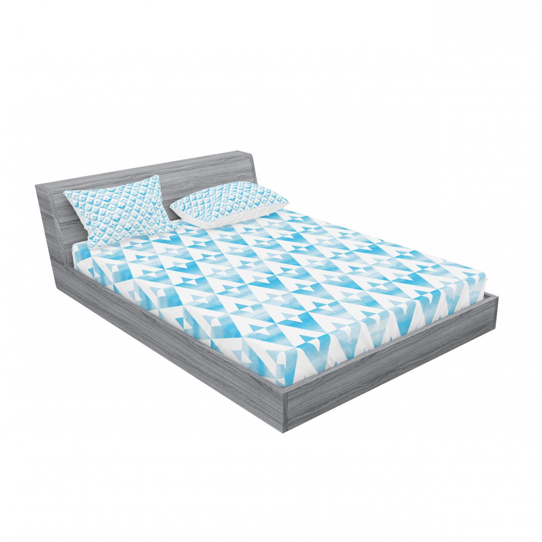 thumbnail 79 - Ambesonne Modern Design Fitted Sheet Pillow Sham Set Bedding Decor in 4 Sizes