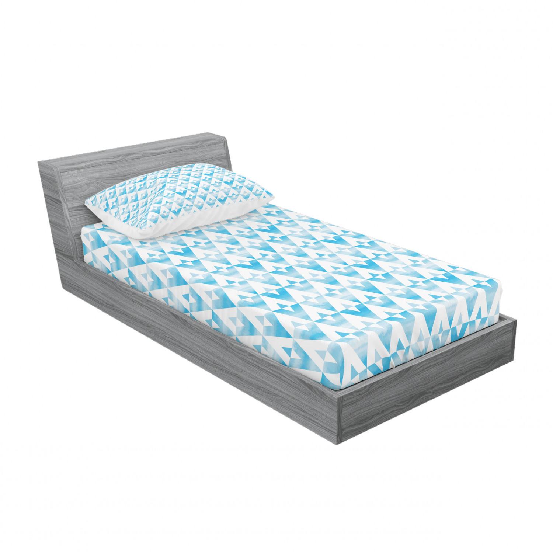thumbnail 77 - Ambesonne Modern Design Fitted Sheet Pillow Sham Set Bedding Decor in 4 Sizes