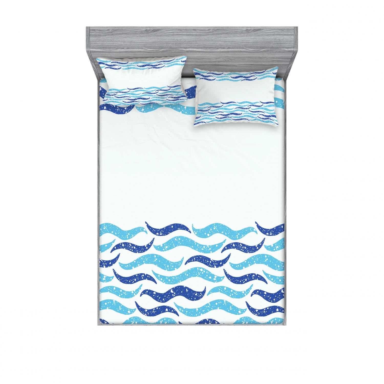 thumbnail 142 - Ambesonne Modern Design Fitted Sheet Pillow Sham Set Bedding Decor in 4 Sizes