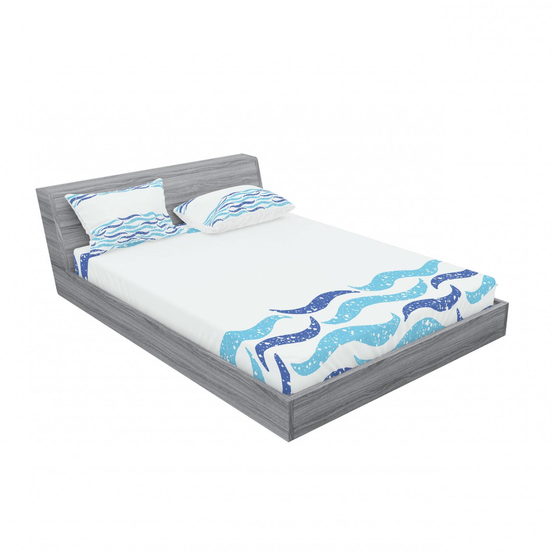 thumbnail 143 - Ambesonne Modern Design Fitted Sheet Pillow Sham Set Bedding Decor in 4 Sizes