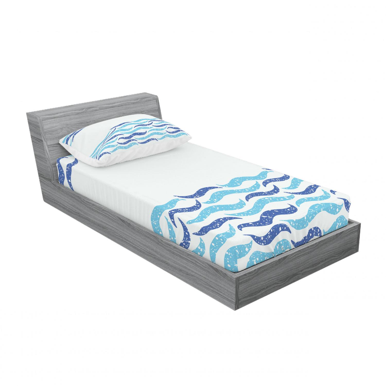 thumbnail 141 - Ambesonne Modern Design Fitted Sheet Pillow Sham Set Bedding Decor in 4 Sizes