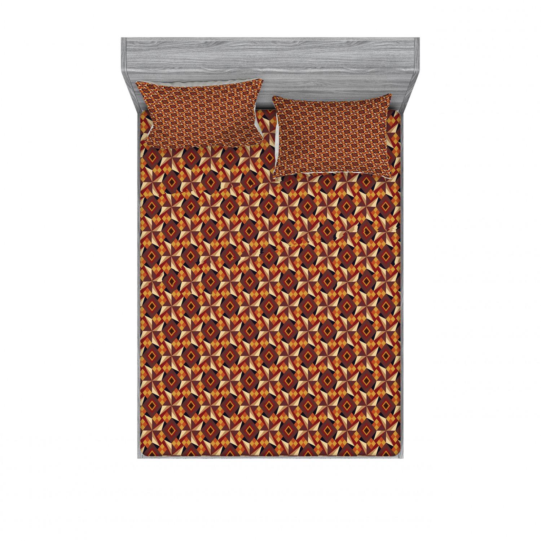 thumbnail 162 - Ambesonne Modern Design Fitted Sheet Pillow Sham Set Bedding Decor in 4 Sizes