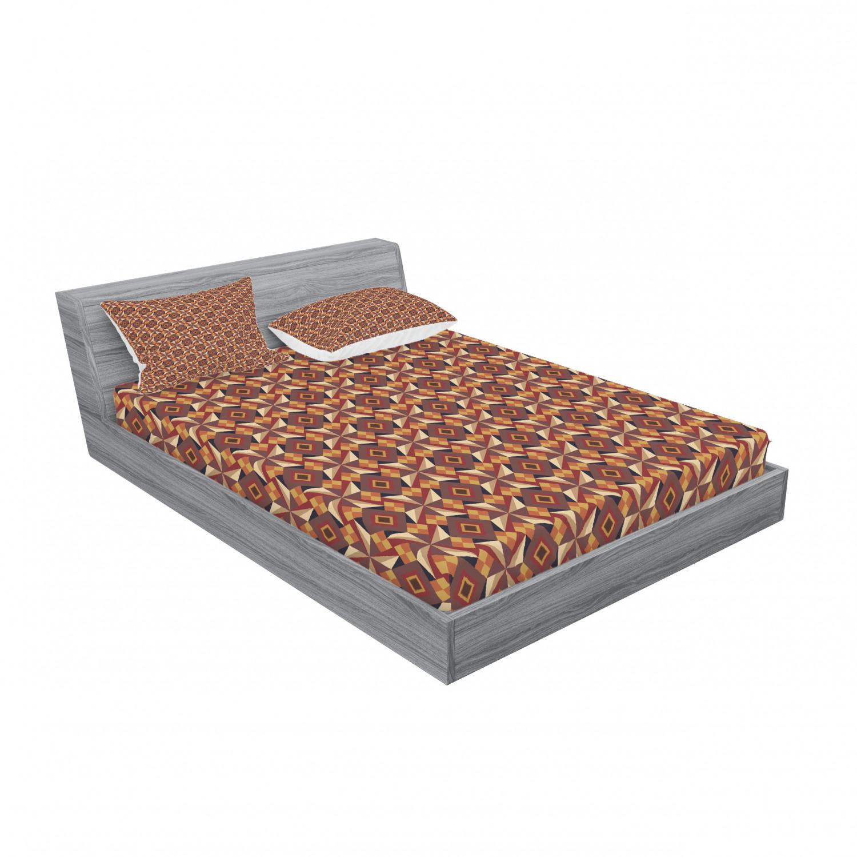 thumbnail 163 - Ambesonne Modern Design Fitted Sheet Pillow Sham Set Bedding Decor in 4 Sizes