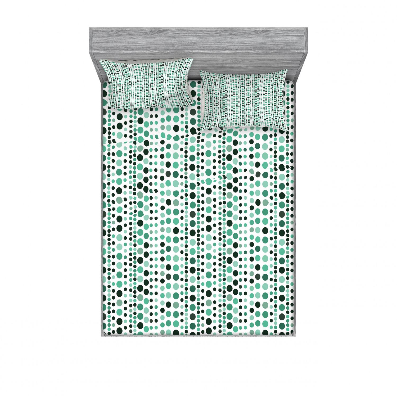thumbnail 90 - Ambesonne Modern Design Fitted Sheet Pillow Sham Set Bedding Decor in 4 Sizes
