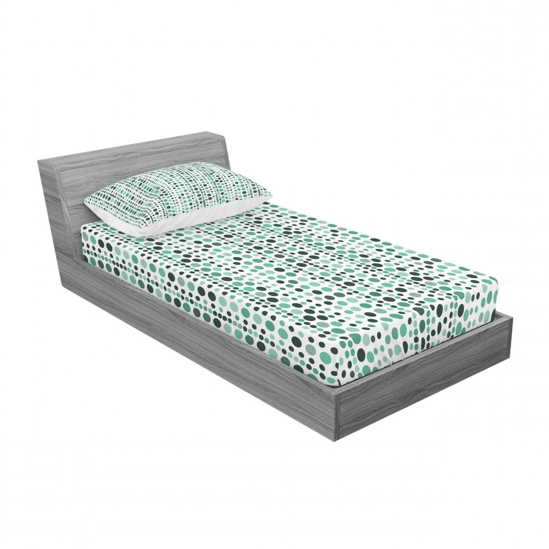 thumbnail 89 - Ambesonne Modern Design Fitted Sheet Pillow Sham Set Bedding Decor in 4 Sizes