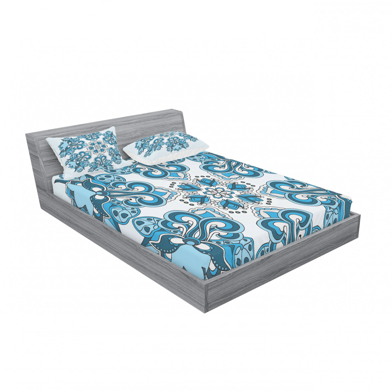 thumbnail 75 - Ambesonne-Mandala-Fitted-Sheet-Pillow-Sham-Set-Bedding-Decor-in-4-Sizes