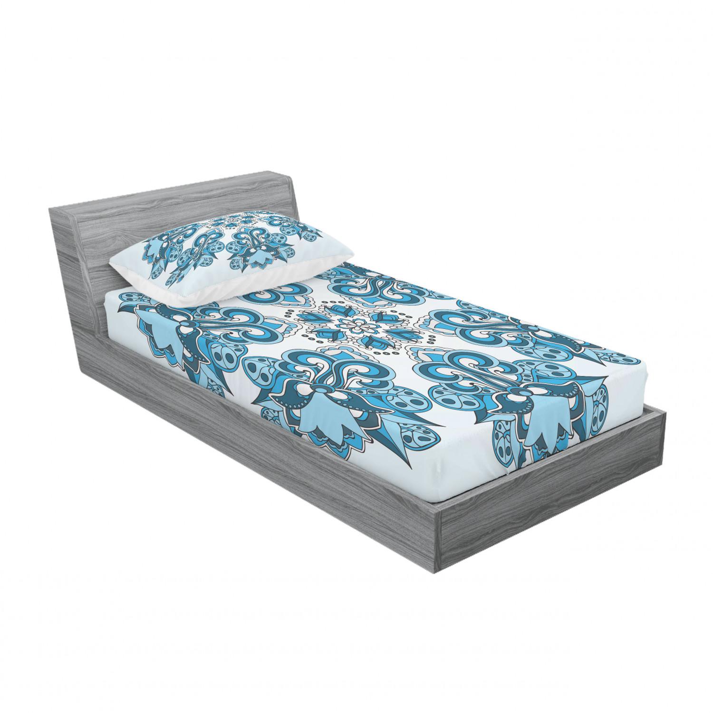 thumbnail 73 - Ambesonne-Mandala-Fitted-Sheet-Pillow-Sham-Set-Bedding-Decor-in-4-Sizes