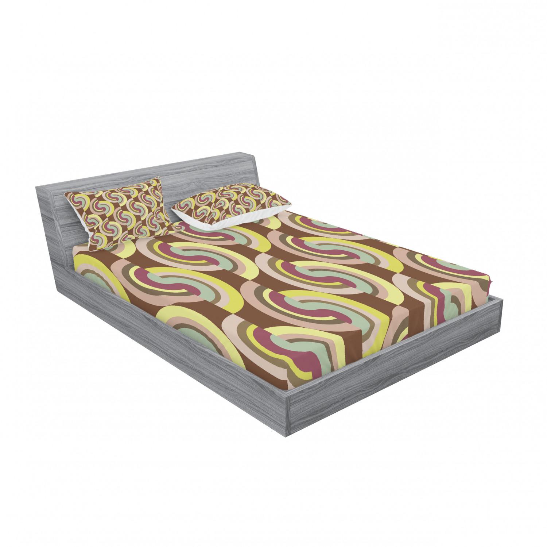 thumbnail 215 - Ambesonne Modern Design Fitted Sheet Pillow Sham Set Bedding Decor in 4 Sizes