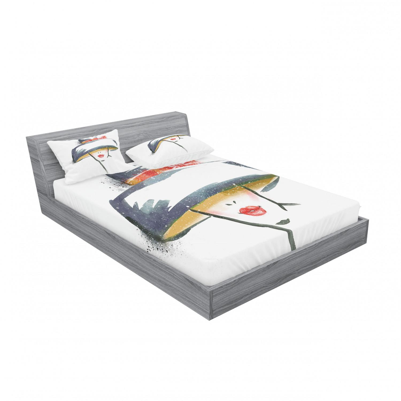 thumbnail 55 - Ambesonne Modern Design Fitted Sheet Pillow Sham Set Bedding Decor in 4 Sizes