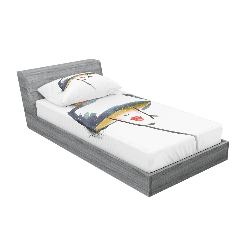 thumbnail 53 - Ambesonne Modern Design Fitted Sheet Pillow Sham Set Bedding Decor in 4 Sizes