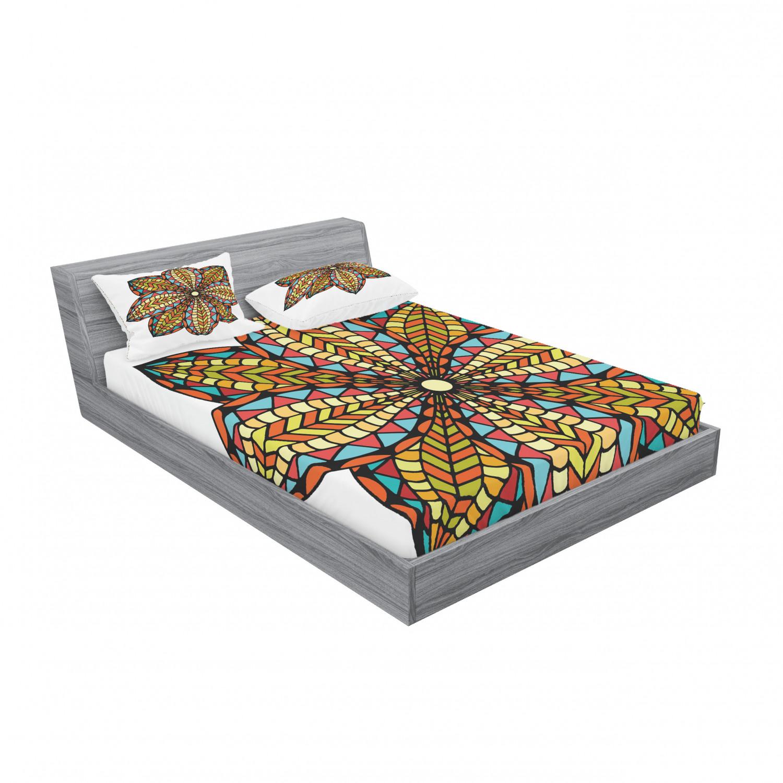 thumbnail 39 - Ambesonne-Mandala-Fitted-Sheet-Pillow-Sham-Set-Bedding-Decor-in-4-Sizes
