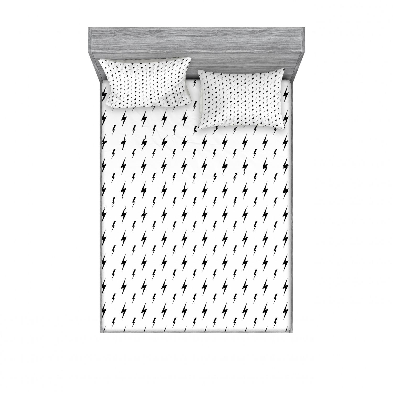 thumbnail 206 - Ambesonne Modern Design Fitted Sheet Pillow Sham Set Bedding Decor in 4 Sizes