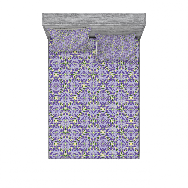 thumbnail 162 - Ambesonne-Mandala-Fitted-Sheet-Pillow-Sham-Set-Bedding-Decor-in-4-Sizes