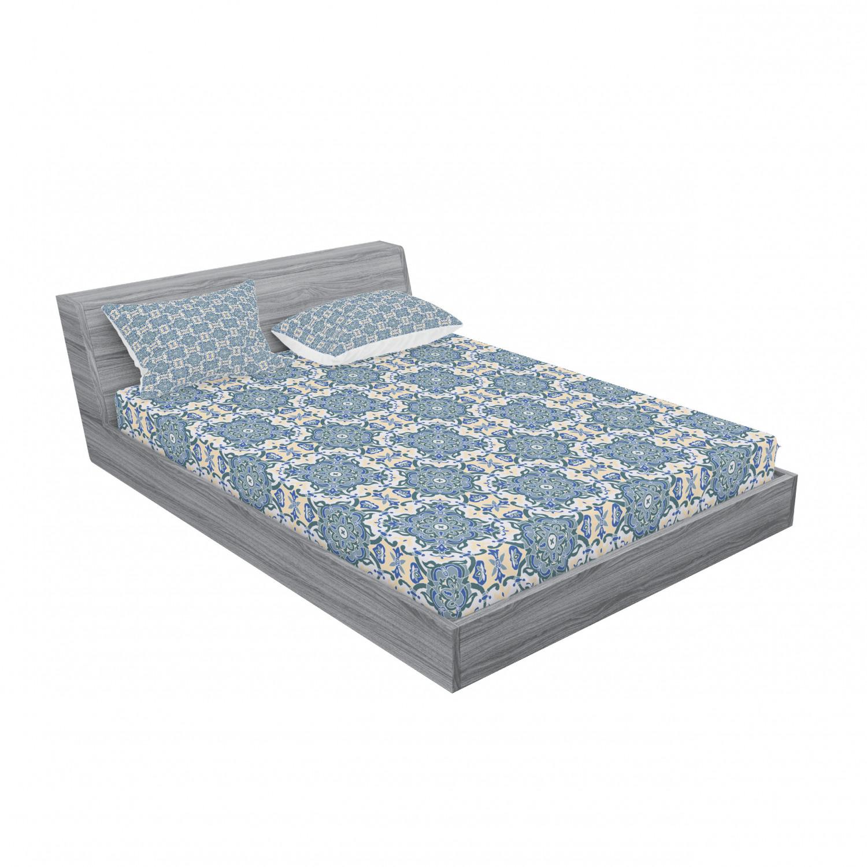 thumbnail 191 - Ambesonne-Mandala-Fitted-Sheet-Pillow-Sham-Set-Bedding-Decor-in-4-Sizes