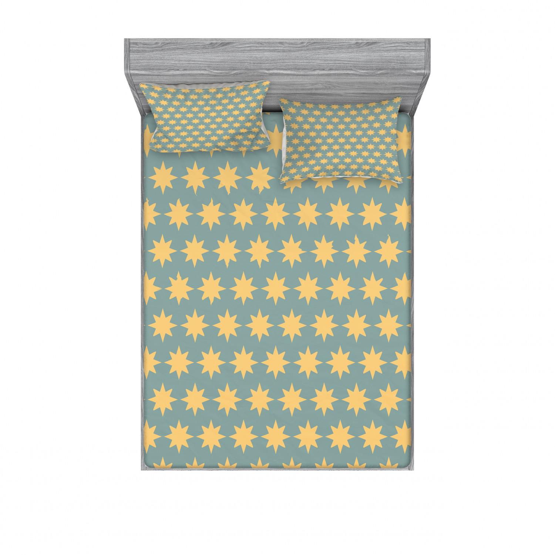 thumbnail 190 - Ambesonne Modern Design Fitted Sheet Pillow Sham Set Bedding Decor in 4 Sizes