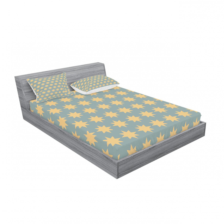 thumbnail 191 - Ambesonne Modern Design Fitted Sheet Pillow Sham Set Bedding Decor in 4 Sizes