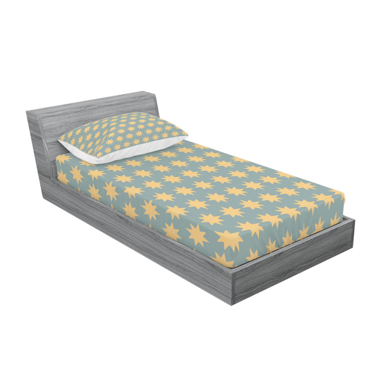 thumbnail 189 - Ambesonne Modern Design Fitted Sheet Pillow Sham Set Bedding Decor in 4 Sizes