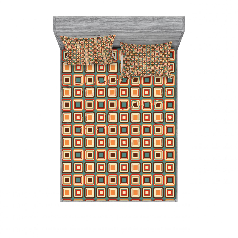 thumbnail 74 - Ambesonne Modern Design Fitted Sheet Pillow Sham Set Bedding Decor in 4 Sizes