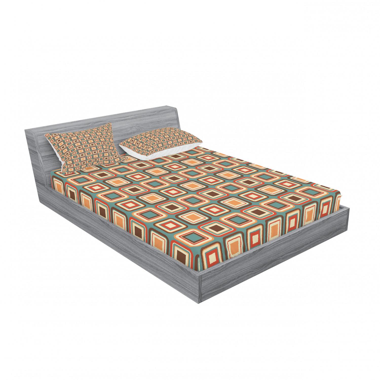 thumbnail 75 - Ambesonne Modern Design Fitted Sheet Pillow Sham Set Bedding Decor in 4 Sizes