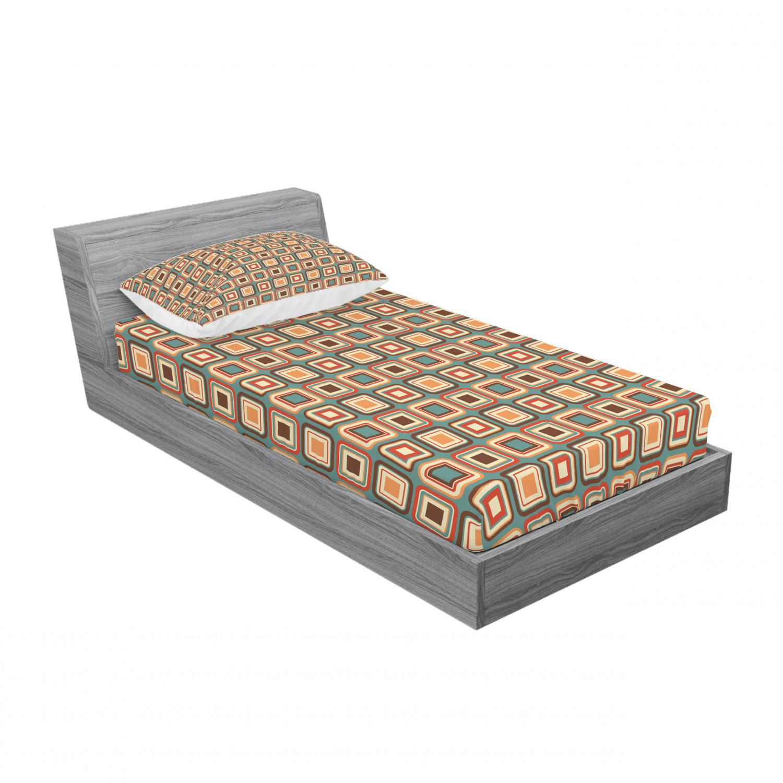 thumbnail 73 - Ambesonne Modern Design Fitted Sheet Pillow Sham Set Bedding Decor in 4 Sizes