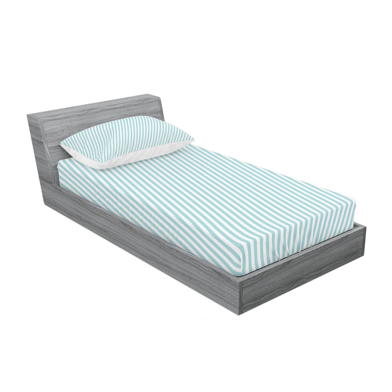 thumbnail 185 - Ambesonne Modern Design Fitted Sheet Pillow Sham Set Bedding Decor in 4 Sizes