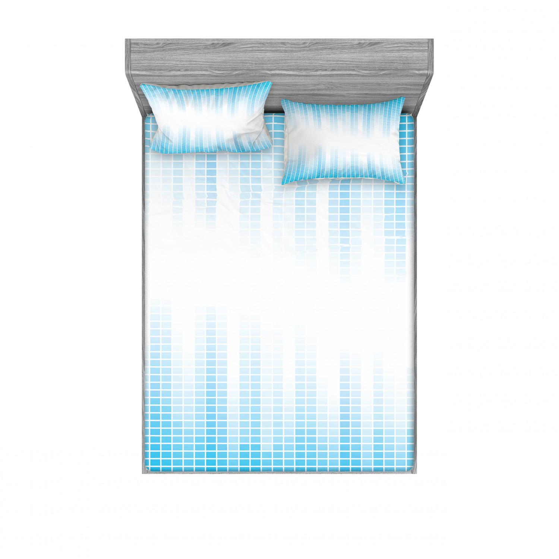 thumbnail 82 - Ambesonne Modern Design Fitted Sheet Pillow Sham Set Bedding Decor in 4 Sizes