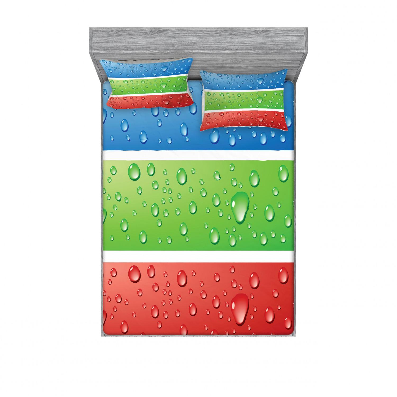 thumbnail 218 - Ambesonne Modern Design Fitted Sheet Pillow Sham Set Bedding Decor in 4 Sizes