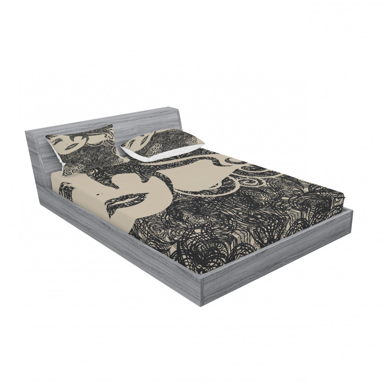 thumbnail 239 - Ambesonne Modern Design Fitted Sheet Pillow Sham Set Bedding Decor in 4 Sizes